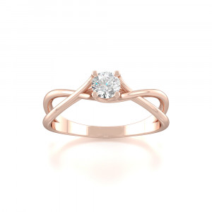 Double Navel Solitaire Diamond Rings