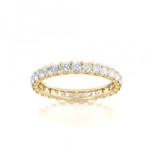 Dossal gyrate Eternity Rings
