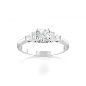 Marry Side Stone Rings