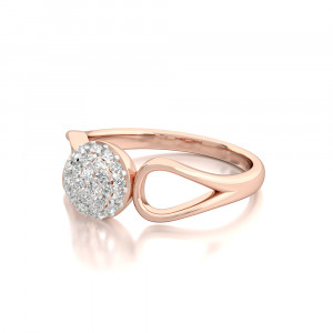 Bubbly Ring Cluster Diamond Ring